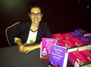 Scholastic Book Fair Dinner Aug 2011. Signing Table
