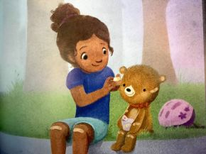Scene from Teddy Bear of the Year, written by Vikki VanSickle, illustrated by Sydney Hanson